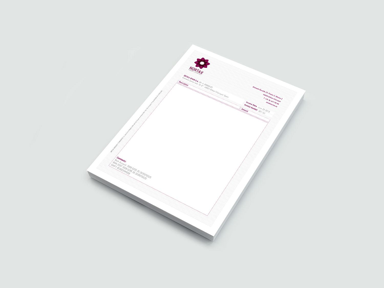 diseño papelería nortax